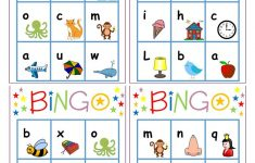 Alphabet Bingo – English Esl Worksheets For Distance