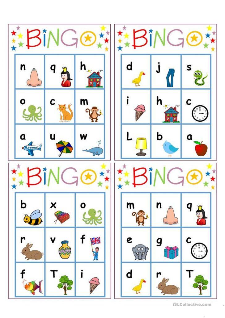 Letter Bingo Printable Cards