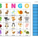 Animal Bingo Card | Bingo Printable, Pets Preschool