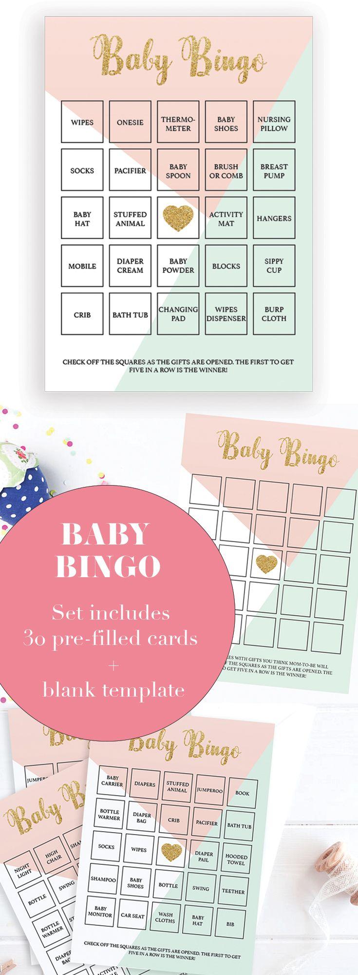 Baby Bingo Template Free Printable ] - Printable Snowman