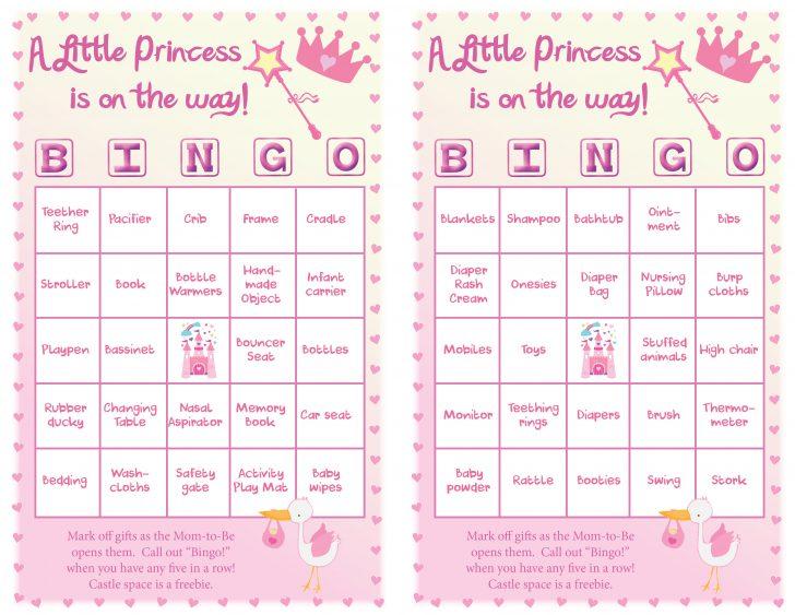 Free Printable Baby Shower Princess Bingo Cards