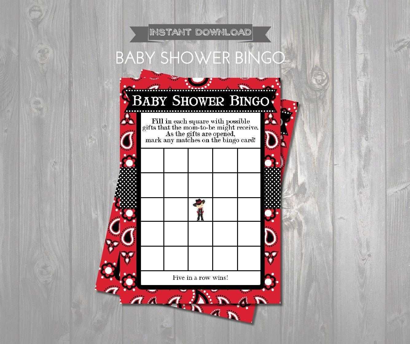 Baby Shower Bingo Game Cards - Printable Baby Shower Bingo