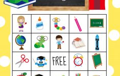 Back To School Bingo Game To Print & Play – Crazy Little