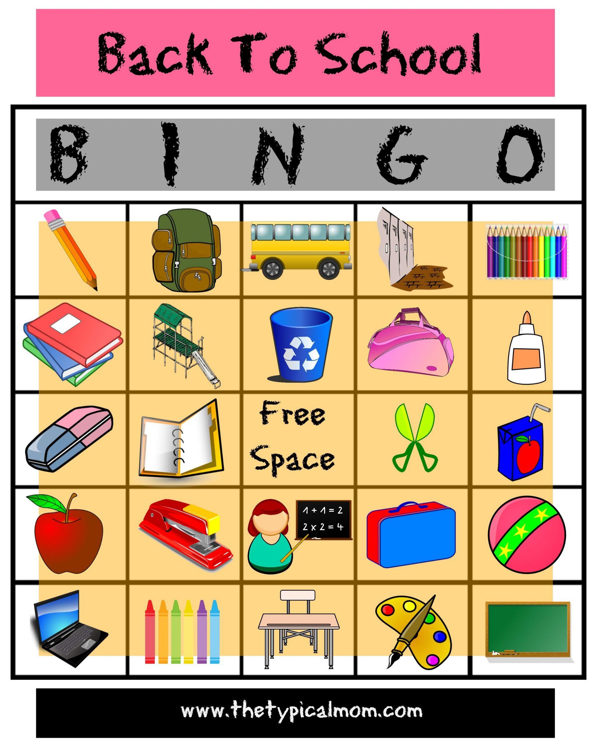 Back To School Bingo | Printable Activities For Kids, Back