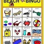 Beach Party Games For Children | Bingo Games For Kids, Kids