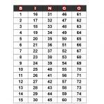 Bingo Call Sheet   How To Create A Bingo Call Sheet