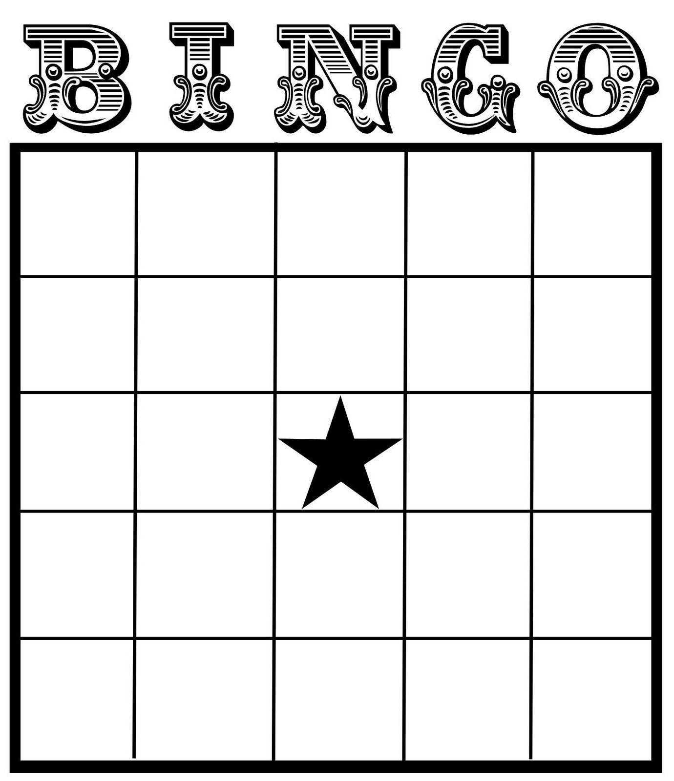 Bingo Card - Bing Images | Bingo Card Template, Blank Bingo