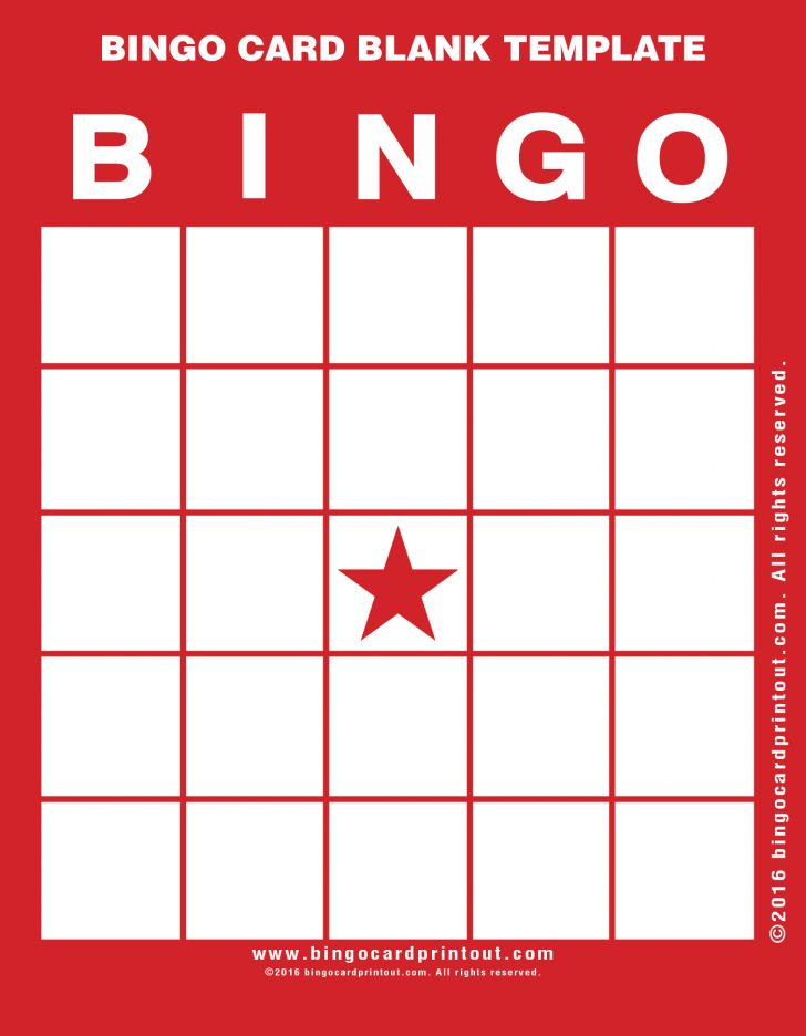Bingo Card Printable Template