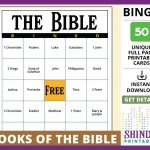 Bingo Card Game: Books And People Of The Christian Holy