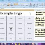 Bingo Card Generator   Microsoft Excel Free Download