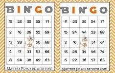 Bingo Card Printable Postedjohn Thompson