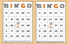 Bingo Card Printable Postedjohn Thompson