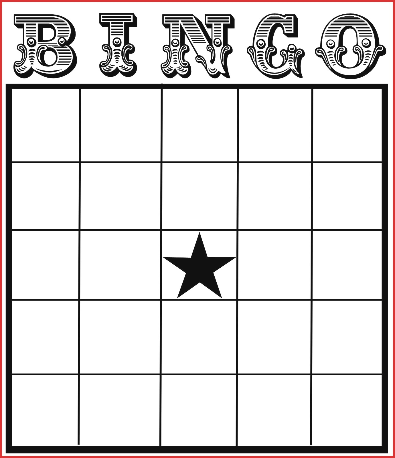 Bingo Card Template Word - Tomope.zaribanks.co