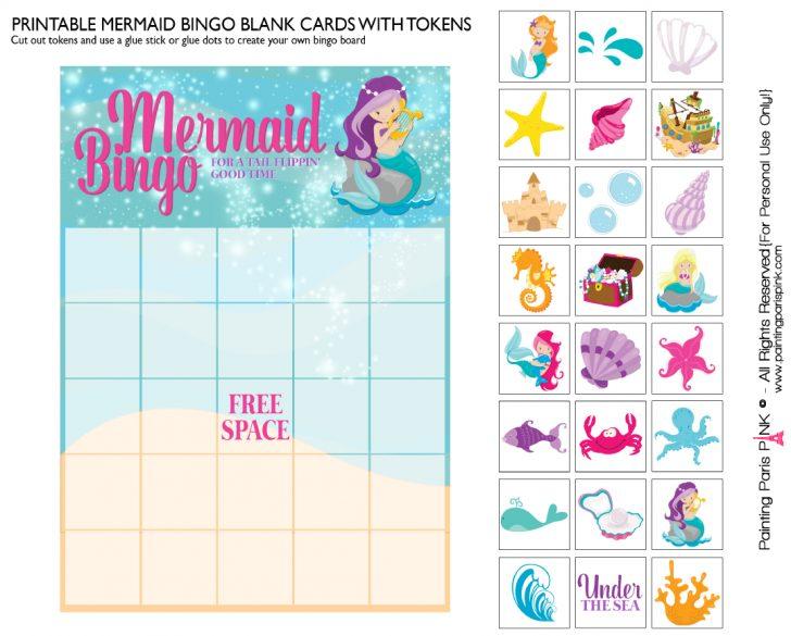 Freee Printable Mermaid Bingo Cards