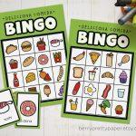 Bingo In Spanish For Kids Food Version   Bingo Game To Learn