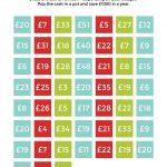 Bingo Money Saving Challenge   Free Printable To Save £1000