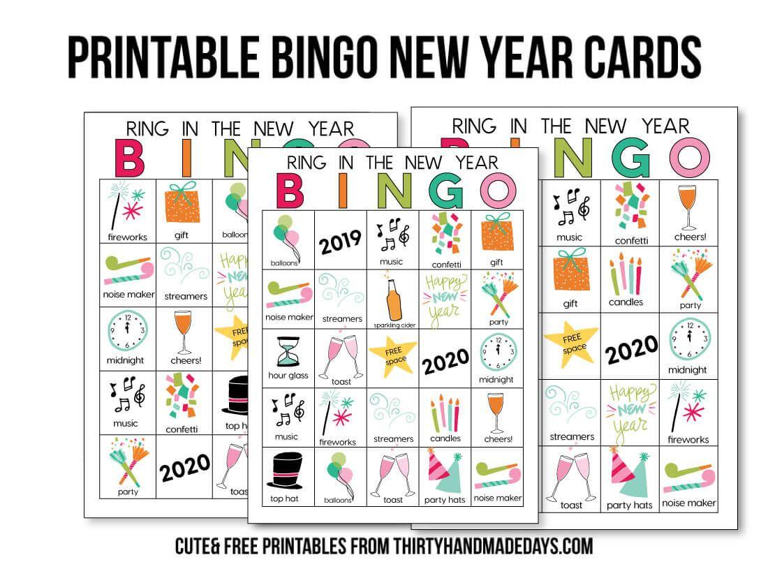 Bingo New Year Printables   New Year Printables, Bingo