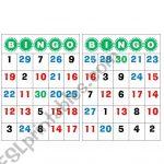 Bingo Number 1 To 30   Esl Worksheetgabyca145