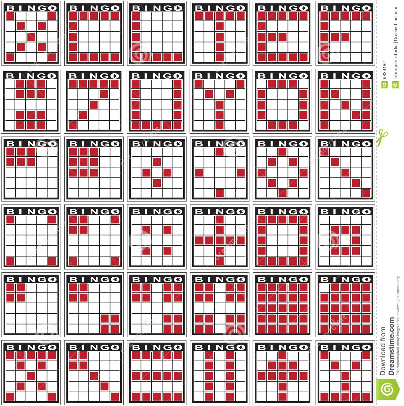 Bingo Patterns Stock Photography - Image: 5834182 | Bingo