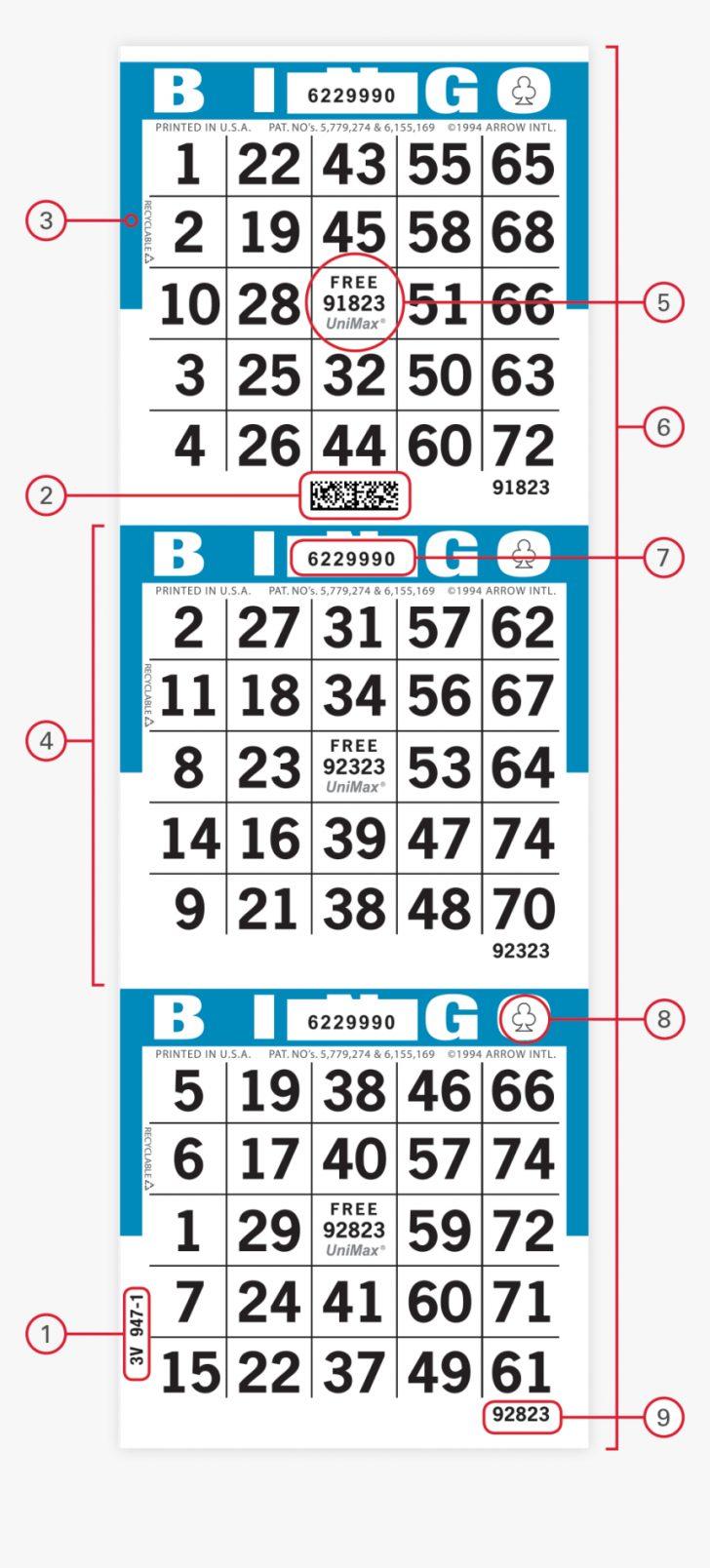Printable Bingo Cards 1-75 PDF Free