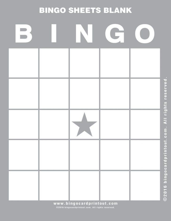 Free Printable Blank Bingo Cards For Teachers PDF