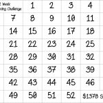 Bingo Style   52 Week Money Saving Challenge. Just Color In