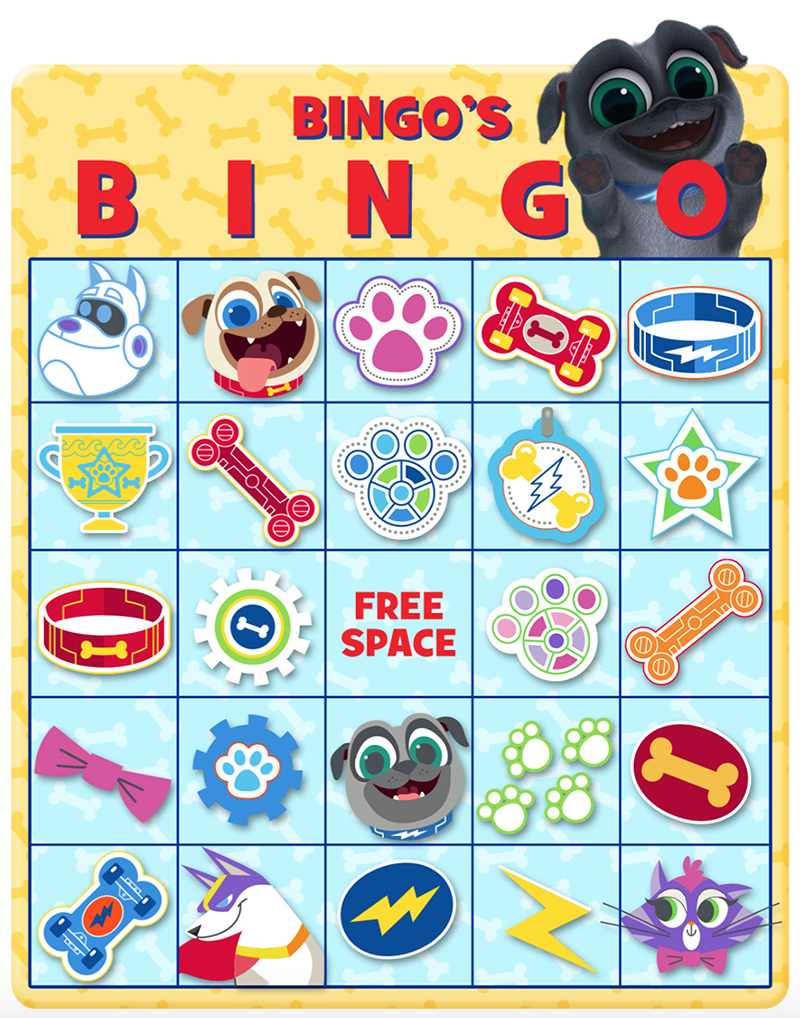 Bingo's Bingo! Print Out This Fun Game And Check Out Puppy