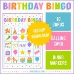 Birthday Bingo Game   Best Party Ideas   Bingo Games