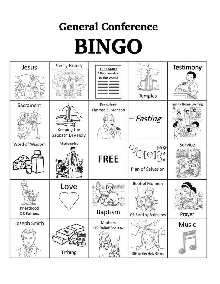 Free Printable Religious Bingo Cards