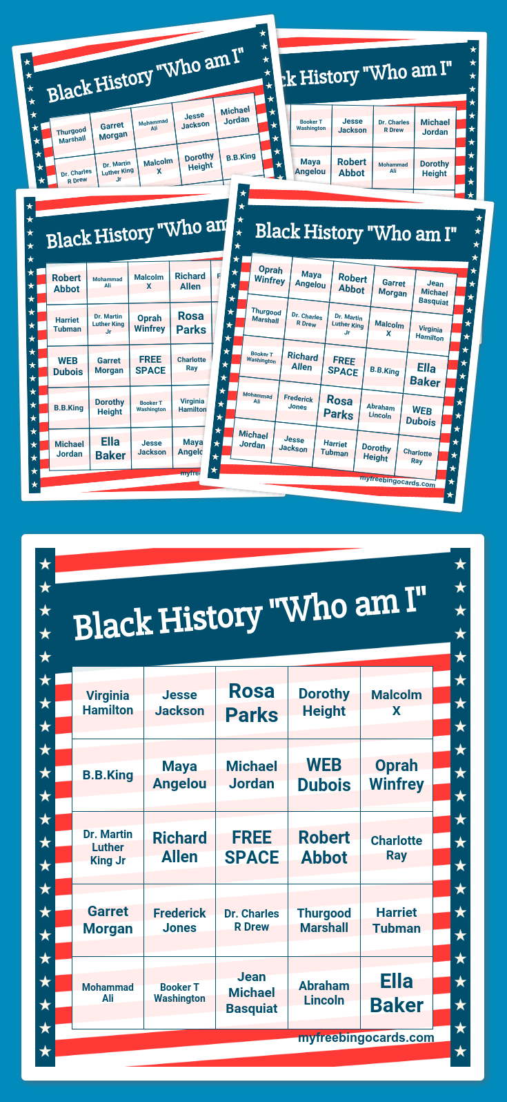 "Black History ""who Am I"" Bingo | Bingo Card Generator, Free"