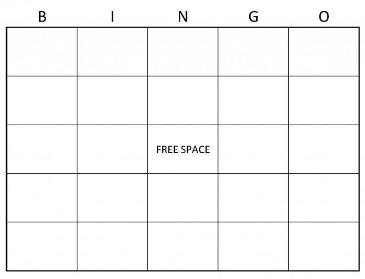Free Printable Empty Bingo Cards