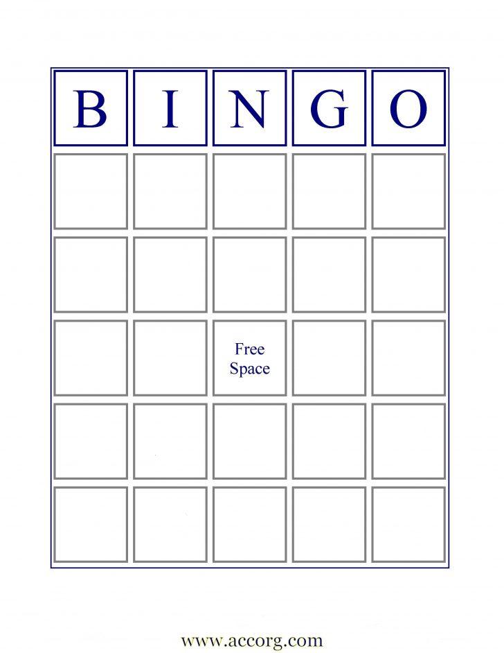 Free Printable Blank Bingo Game Cards