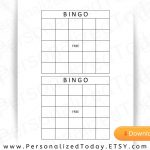 Blank Printable Bingo Board Calling Cards Download For Make