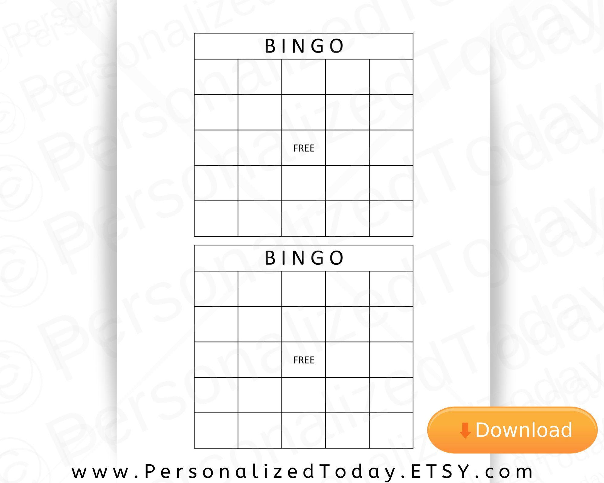 Blank Printable Bingo Board Calling Cards Download For Make