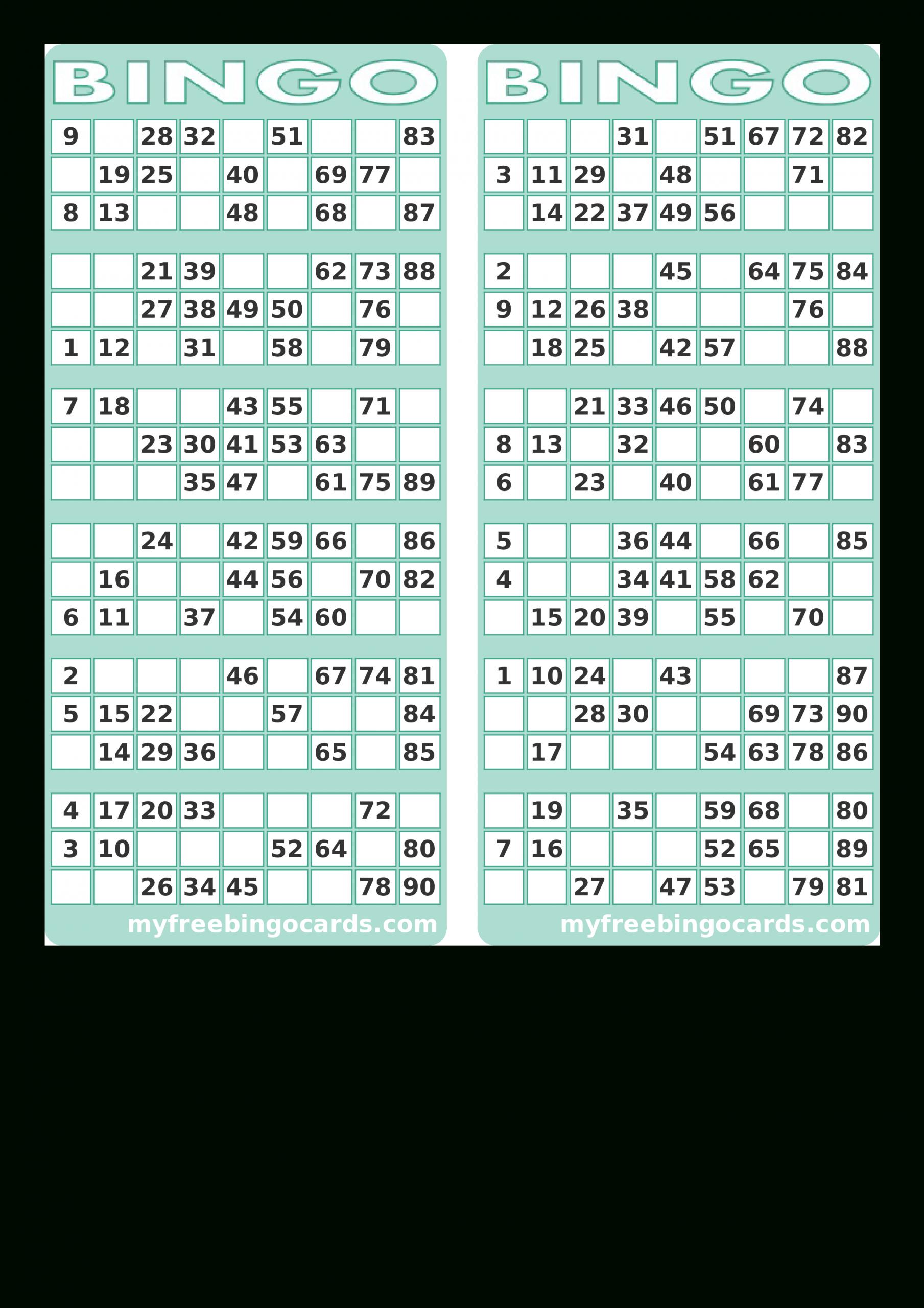 Blank Printable Bingo Card | Templates At
