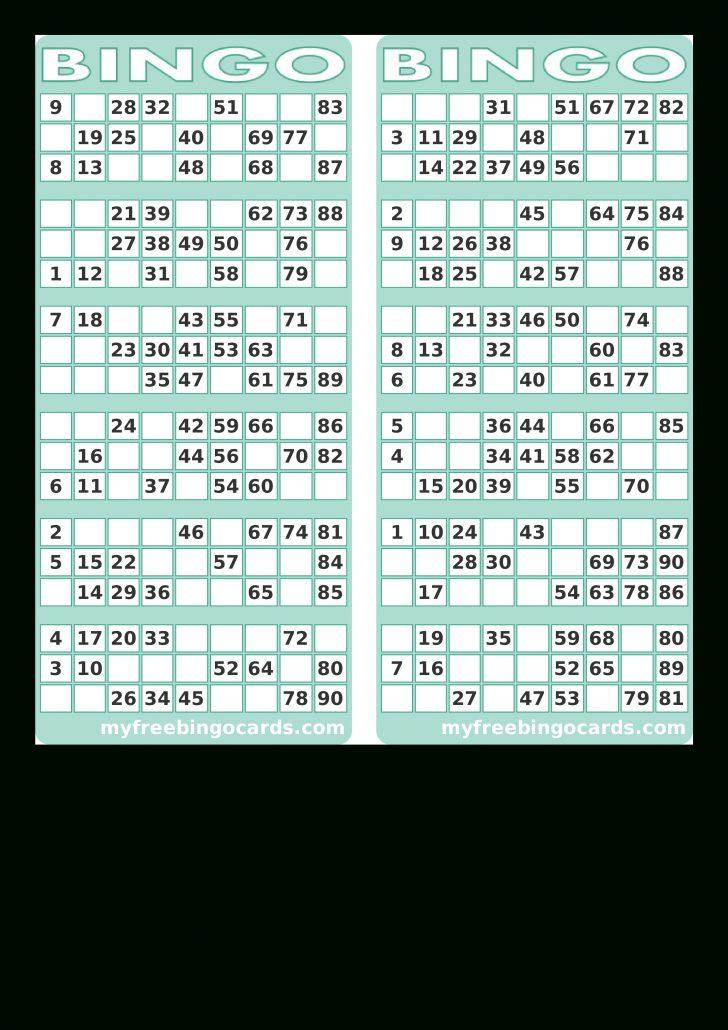 Random Printable Bingo Cards
