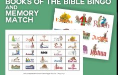 Books Of The Bible Bingo 48 Printable Cards & Memory Match
