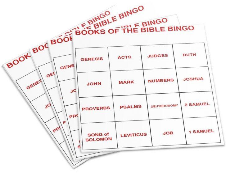 Printable Books Of The Bible Bingo Cards