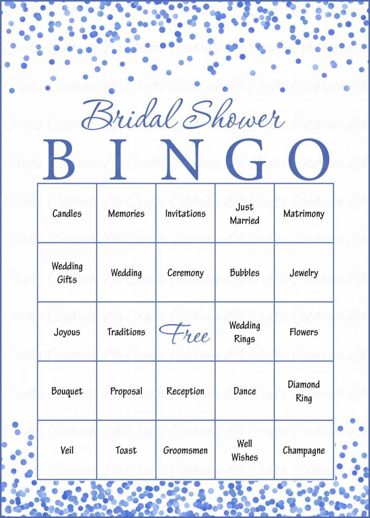 Bridal Shower Bingo Cards Printable Free