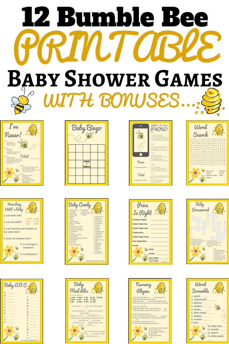 Bumble Bee Printable Baby Shower Set | Baby | Hummel Baby