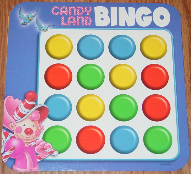 Printable Candyland Bingo Cards
