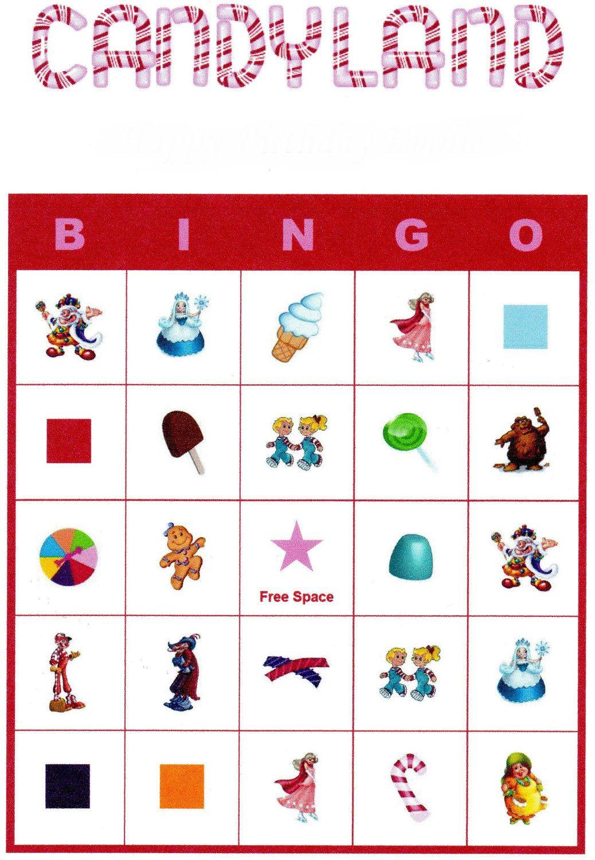 Candyland Bingo. $4.00, Via Etsy. | Candyland Birthday