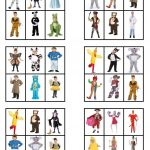 Canival Costumes   Bingo Cards   English Esl Worksheets For