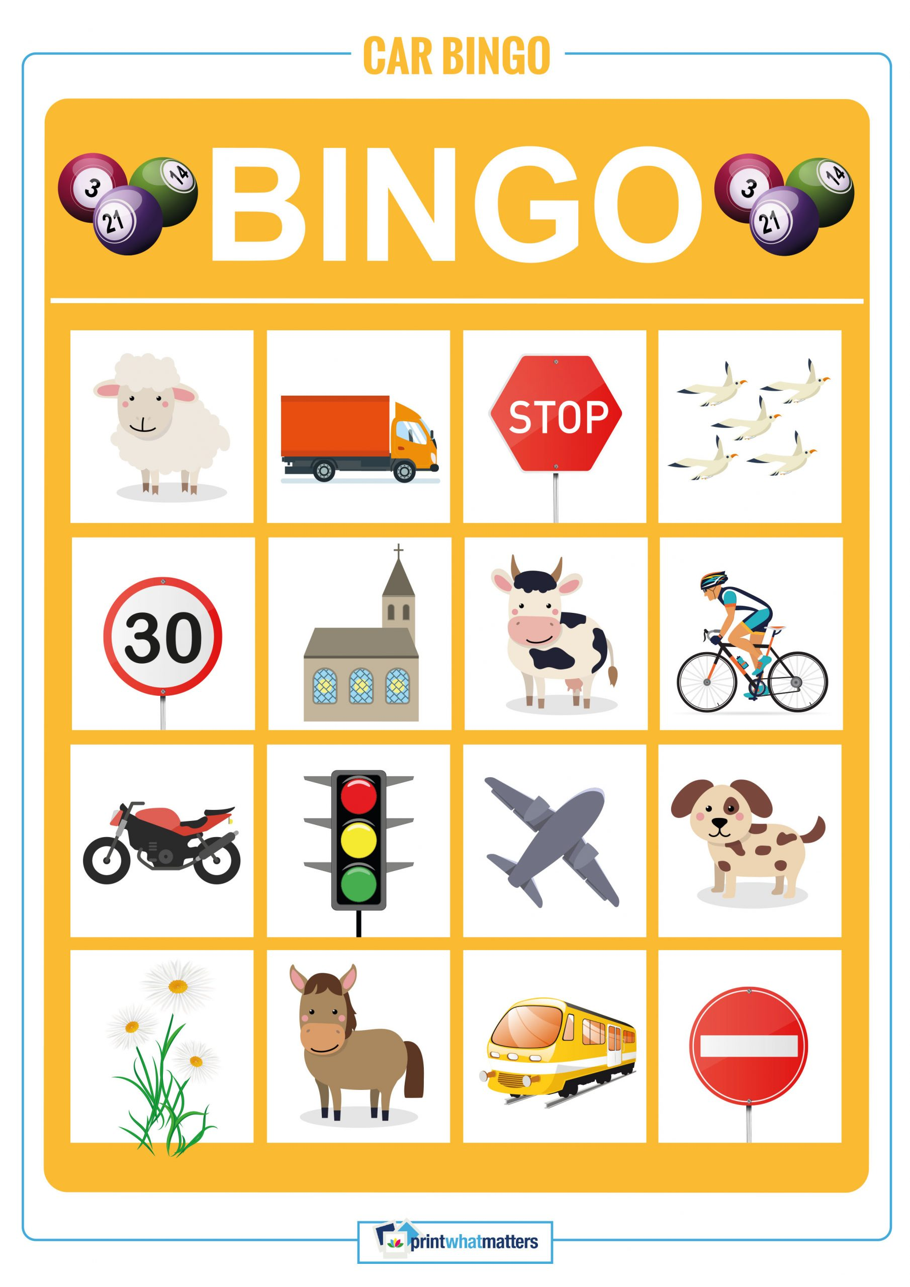 Car Bingo - Print What Matters