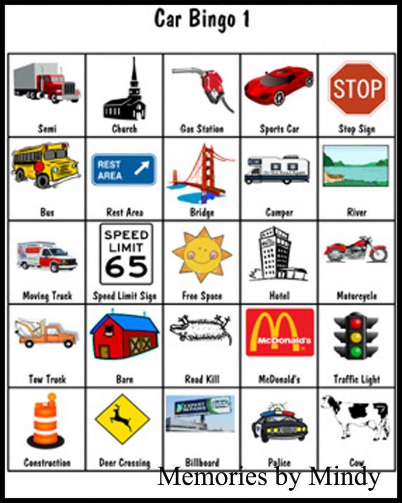 Car Bingo | Road Trip Bingo, Road Trip With Kids, Car Bingo