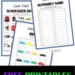 Car Travel Games + Free Printables | Life Outside Work