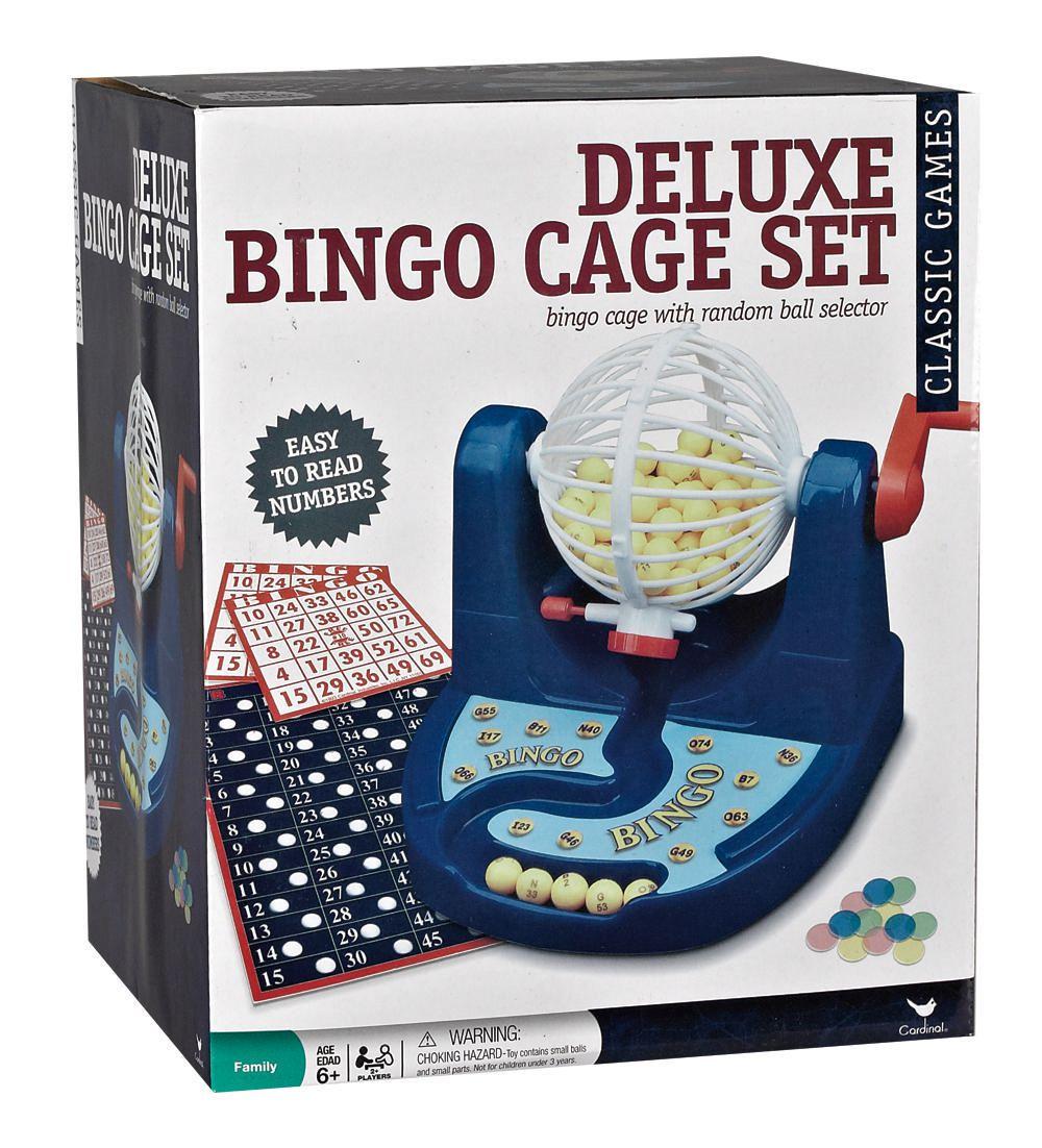 Cardinal Games Deluxe Plastic Bingo Cage Set