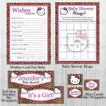 Cheetah Hello Kitty Baby Shower Party And 50 Similar Items