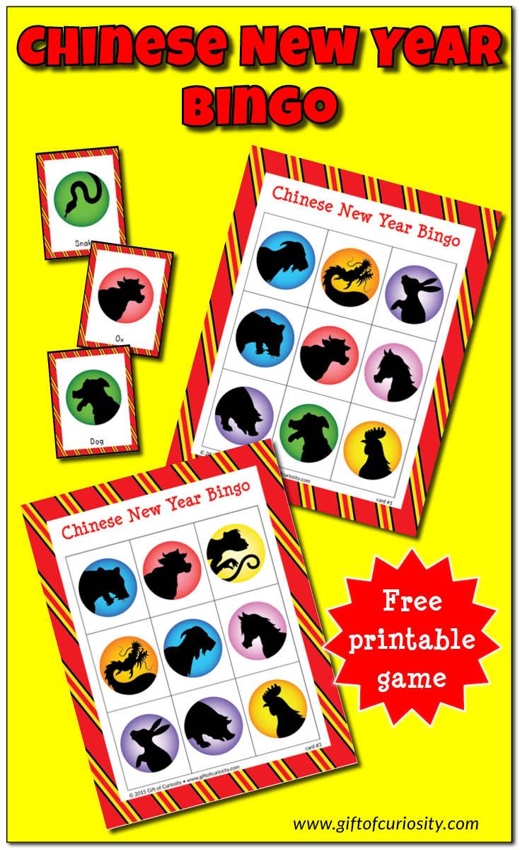 Chinese New Year Bingo Game - Gift Of Curiosity
