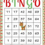 Christmas Bingo Cards   Printable Download   Prefilled